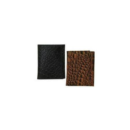 Hermes Crocodile Embossed Leather (BCO503ZC TRI-FOLD CROCODILE EMBOSSED LEATHER WALLET ASSORTMENT BLACK BROWN)