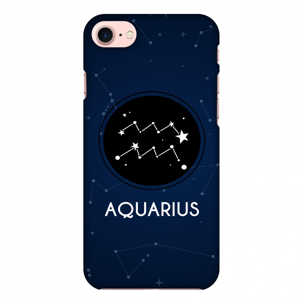 iPhone 7 Case, Premium Handcrafted Designer Hard Shell Snap On Case Printed Back Cover with Screen Cleaning Kit for iPhone 7, Slim, Protective - Stars Aquarius