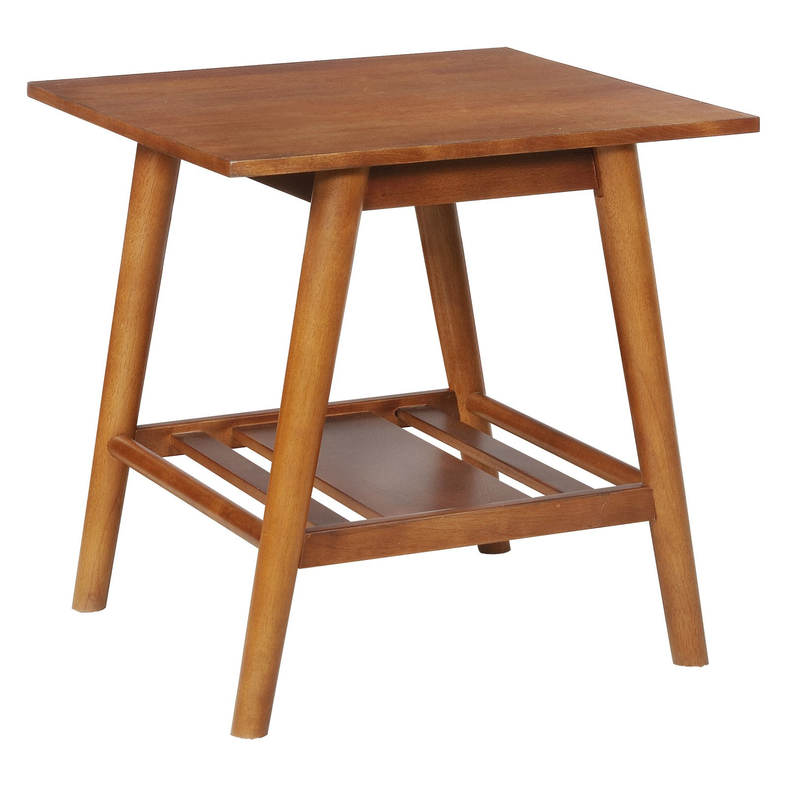 Linon Charlotte End Table, Brown, 22 inches Tall