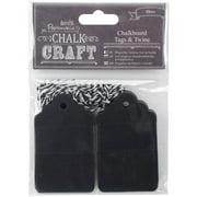 Chalk Craft Chalkboard Tags and Twine, 20pk