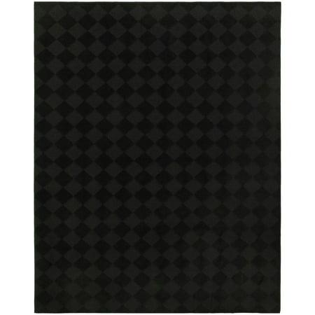 Garland Rug Diamond Black 5'x7' Indoor Area Rug Polypropylene Black Indoor Rugs