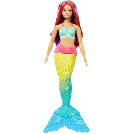 Barbie Dreamtopia Mermaid Doll with Red Hair & Rainbow-Colored