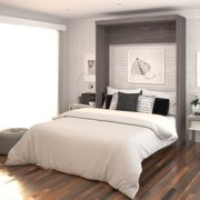 Bestar Nebula by Bestar Queen Wall Bed, Bark Grey and White
