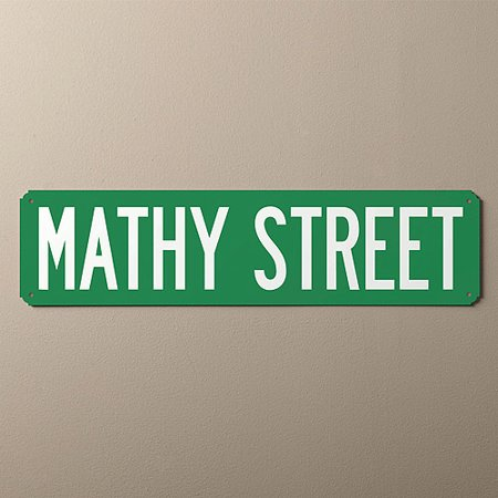 Personalized Street Sign -You Name It Green and White ()