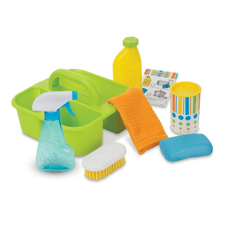Melissa & Doug Toy Pretend Play Spray & Squirt Cleaning Caddy for Kids (8 Pcs)