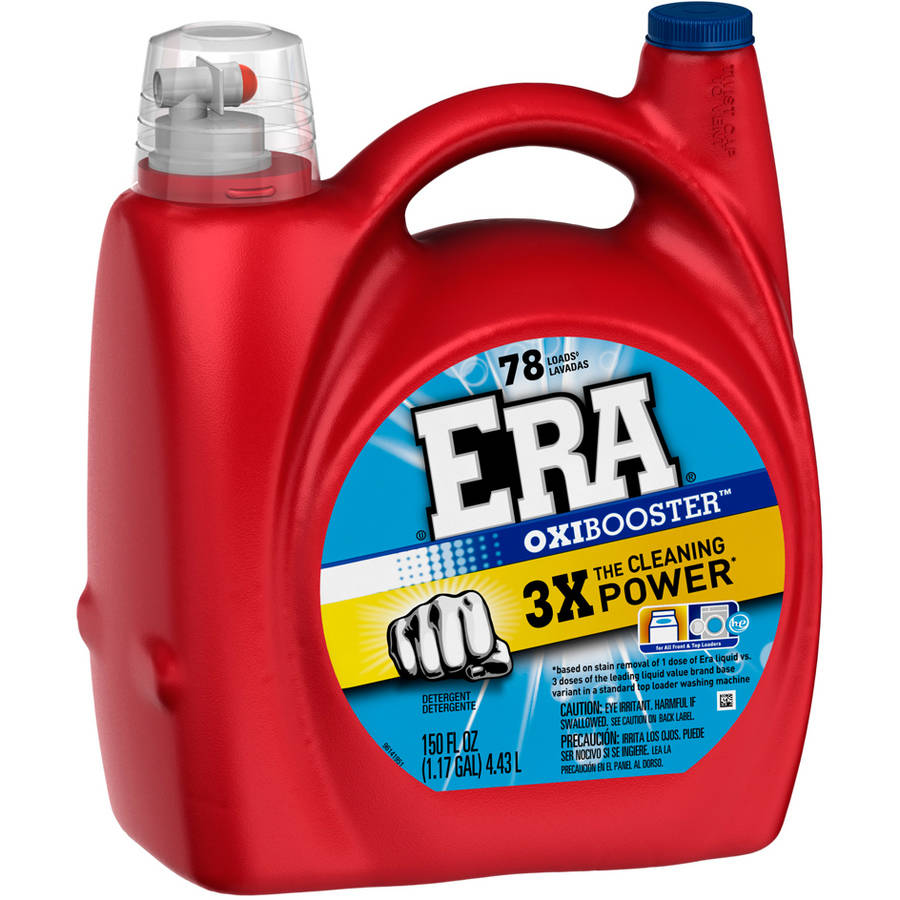 Era 2x Ultra with Oxi Booster Liquid Laundry Detergent, 78 Loads, 150 fl oz