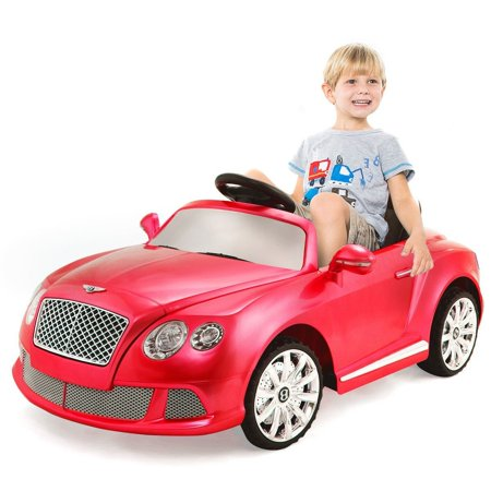 New 12V Bentley Gtc Kids Ride On Car Electric Rc Remote Control W Lights Mp3 Red