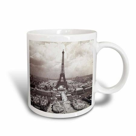 3dRose The Paris Exposition 1900 Eiffel Tower, Ceramic Mug, 15-ounce