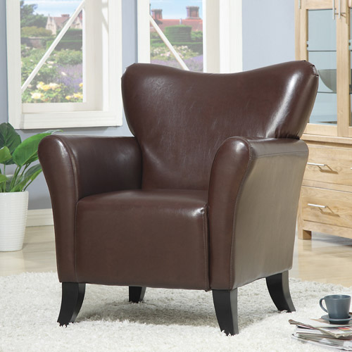 Coaster Upholstery Leatherette Accent Chair, Brown