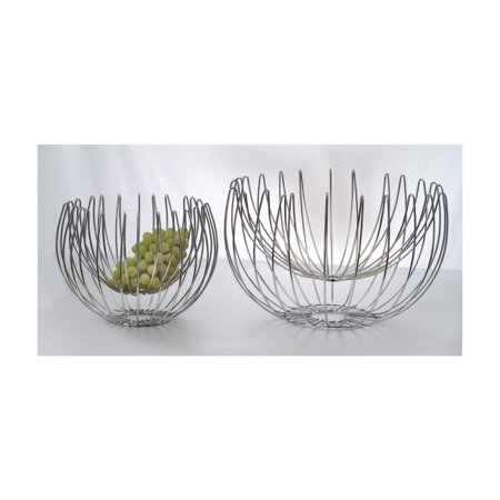 Wire Baskets Chrome 13 Inch Suspended Chrome Wire Basket 10 Inch Tall ()
