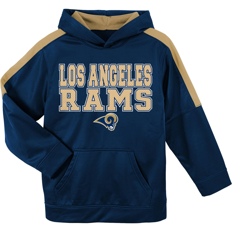 NFL Los Angeles Rams Youth Hooded Fleece Top