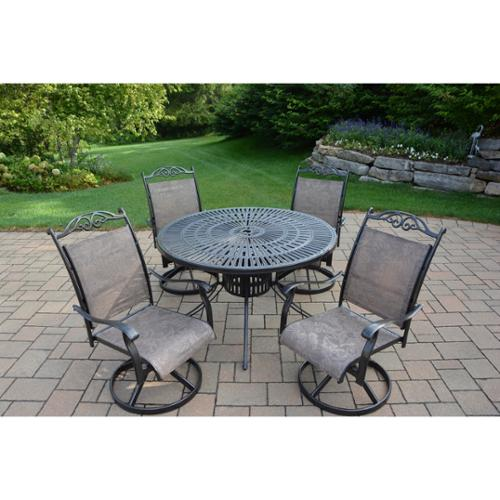 Oakland Living Corporation  Radiance Aluminum 5-piece Dining Set