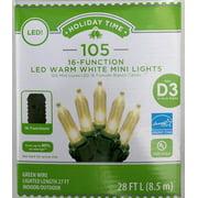Holiday Time 105-16function Led Warm White Mini Light
