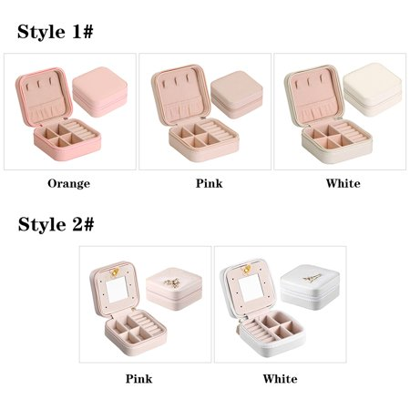 Small Portable Travel Jewelry Box Organizer Storage Case for Rings Earrings Necklaces - image 5 of 7