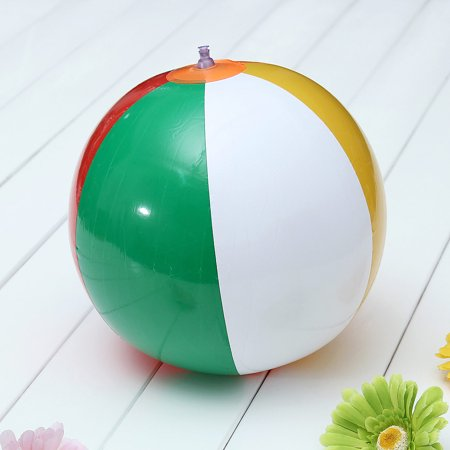 9'' Inch Inflatable Swimming Beach Ball Colorful Blow Traditional Party Game Toy - Large Blow Up Ball