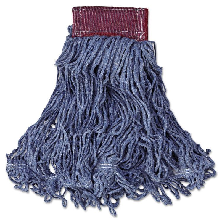 Super Stitch Blend Mop Head, Large, Cotton/synthetic, Blue, 6/carton