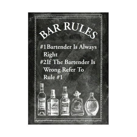 Aluminum Metal Bar Rules Bartender Is Always Right Bar Humor Wall Decoration](Metal Decorations)