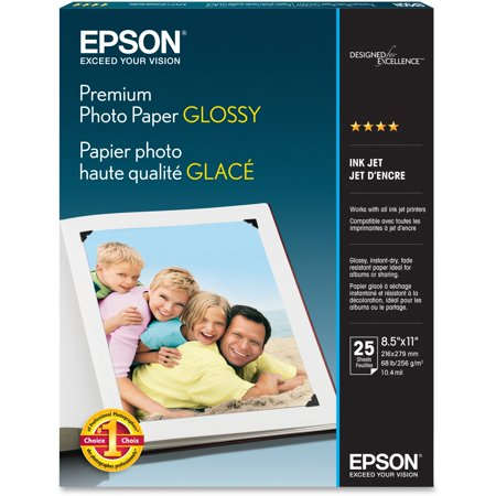- Epson, EPSS042183, Premium Glossy Photo Paper, 1 Each, Bright White