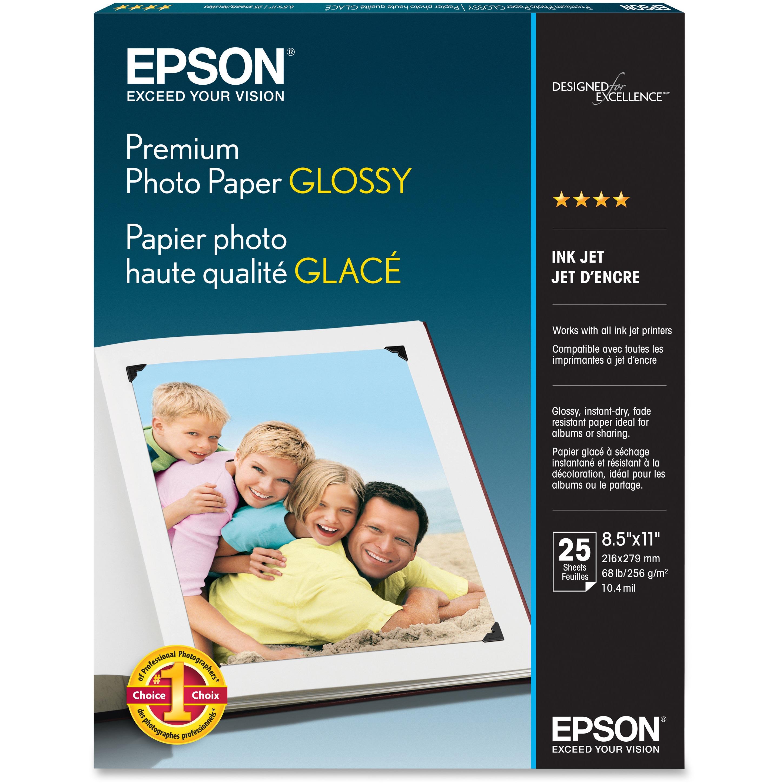 Epson, EPSS042183, Premium Glossy Photo Paper, 1 Each, Bright White