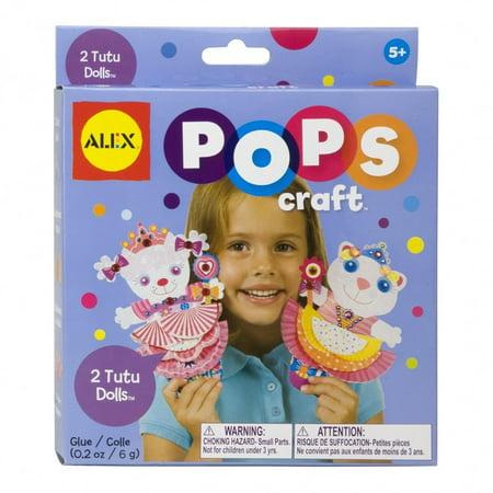 POPS Craft 2 Tutu Dolls, Mini complete craft - Tutu Kits