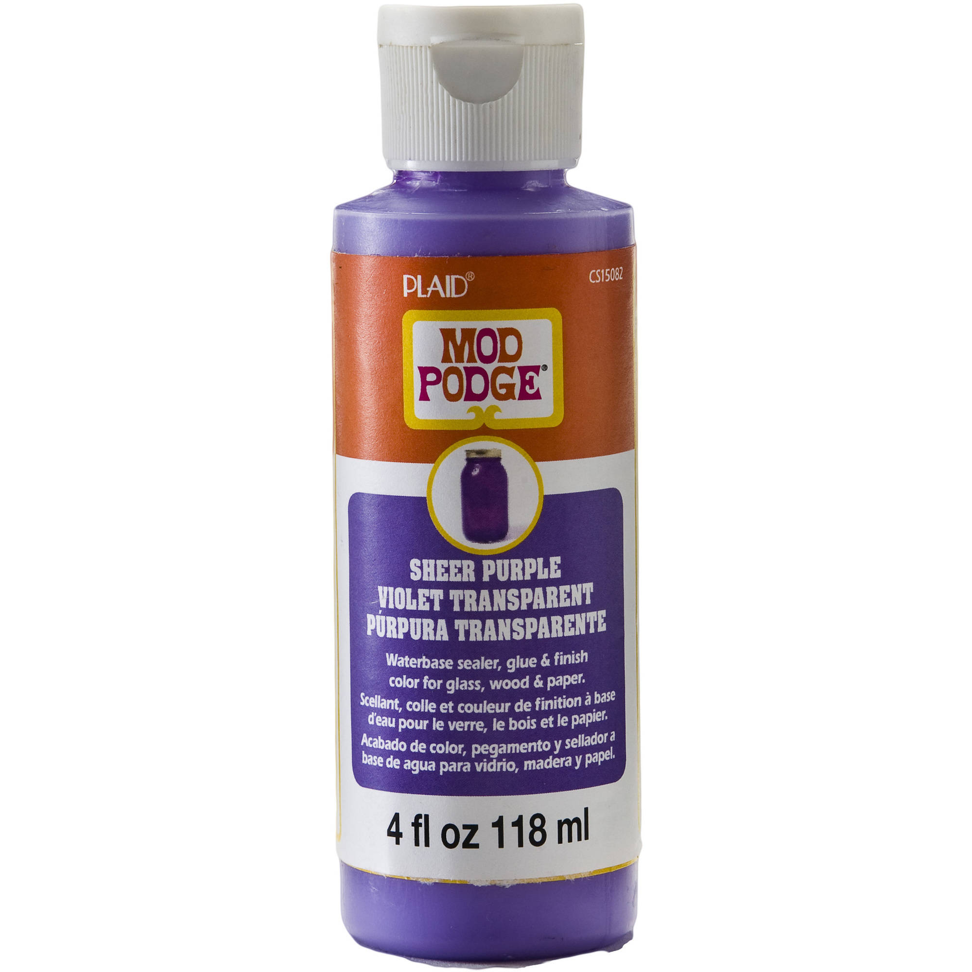 Mod Podge Sheer Color by Plaid, Purple, 4 oz.