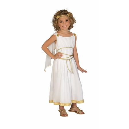 Child Girls Grecian Goddess Royal Empress Cleopatra Greek Princess Dress Costume