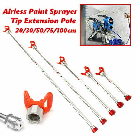 20-100cm Airless Paint Sprayer Spray Gun Tip Extension Pole