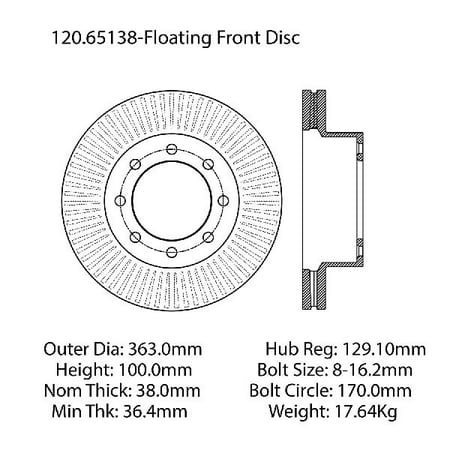 Go-Parts OE Replacement for 2012-2016 Ford F-250 Super