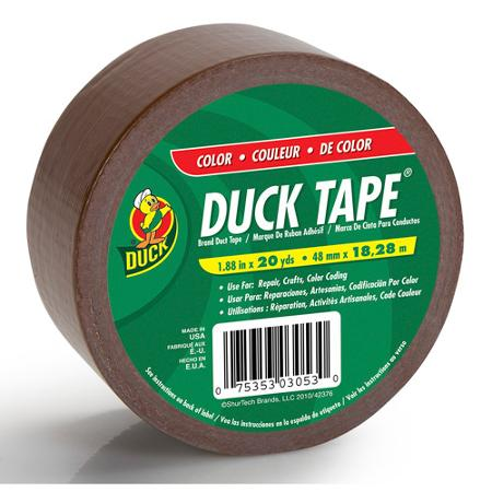 ShurTech Brands, LLC 392876 Duck Tape Colored Duct Tape - BROWN DUCK TAPE