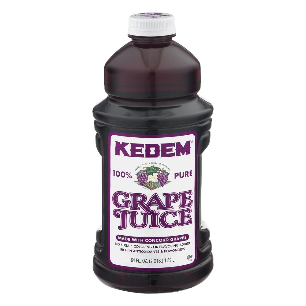 Kedem 100% Juice, Grape, 64 Fl Oz, 1 Count