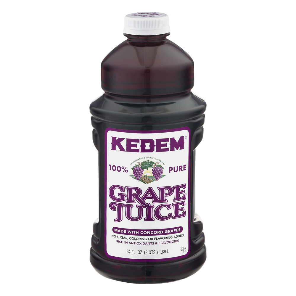 (2 Bottles) Kedem 100% Grape Juice, 64 Fl Oz
