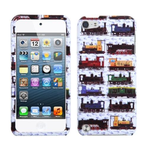 Insten Retro Yrains/White Phone Protector Cover Case For iPod Touch 6 6th 5 5th Gen