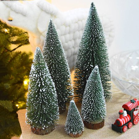 Artificial Tabletop Mini Pine Christmas Trees Decorations Festival Plastic Miniature Trees - Walmart.com