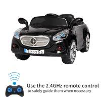 Veryke Electric Sport Cars for Kids, Gift 12V Children Ride-On Toy Car w/ Remote Control, 3 Speeds, Spring Suspension, LED Lights, Black