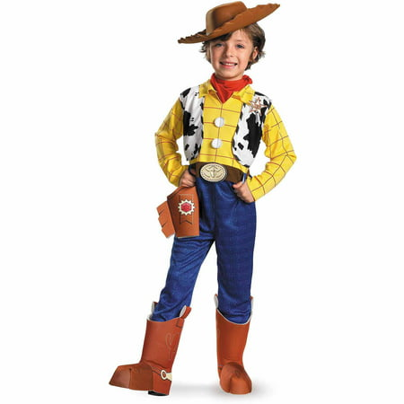 Disney Toy Story Woody Deluxe Toddler Halloween Costume, Size 3T-4T (Male Disney Costume)