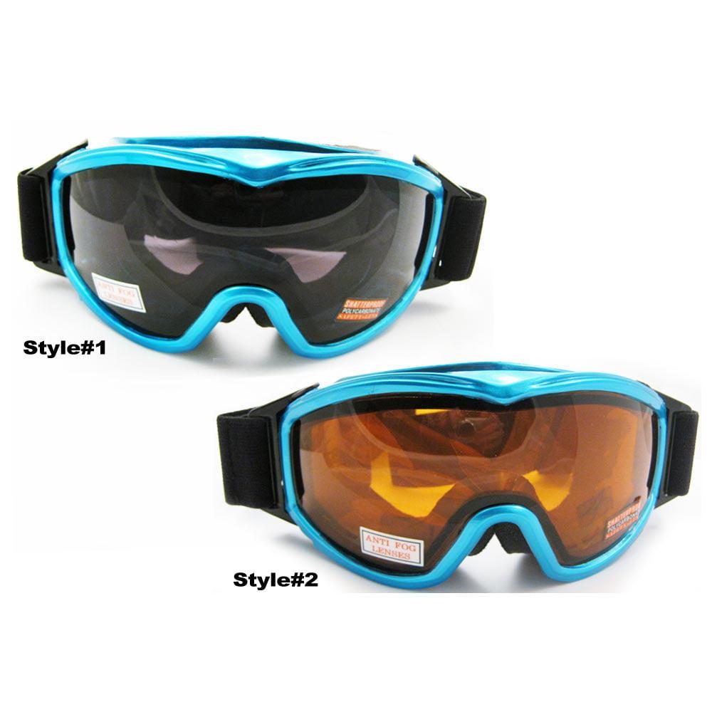 Ski Snowboard Snow Glasses Sun Goggles Sport Lens Anti Fog Elastic Strap Blue by Asia Pacific