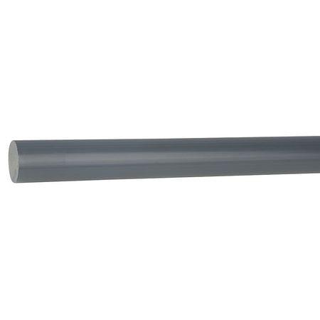 CHI03042125 Rod Stock, Polyvinyl Chloride, 2In., 48In.