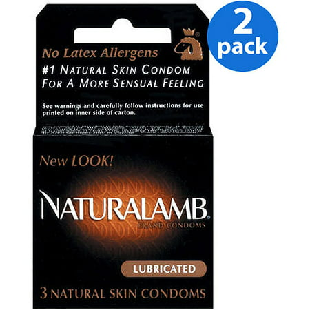 (2 Pack) Trojan Naturalamb Luxury Lubricated Latex Condoms - 3
