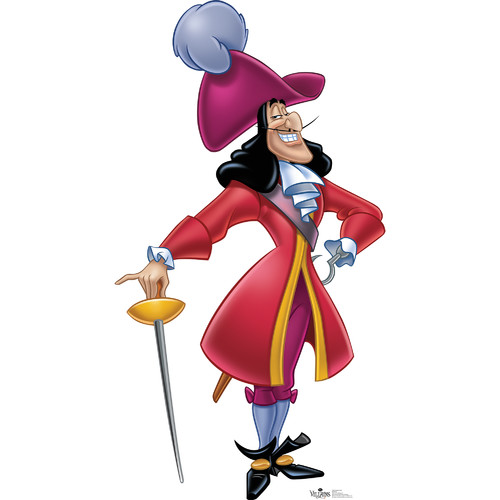 Advanced Graphics Captain Hook Life Size Cardboard Cutout Standup - Disney Villains