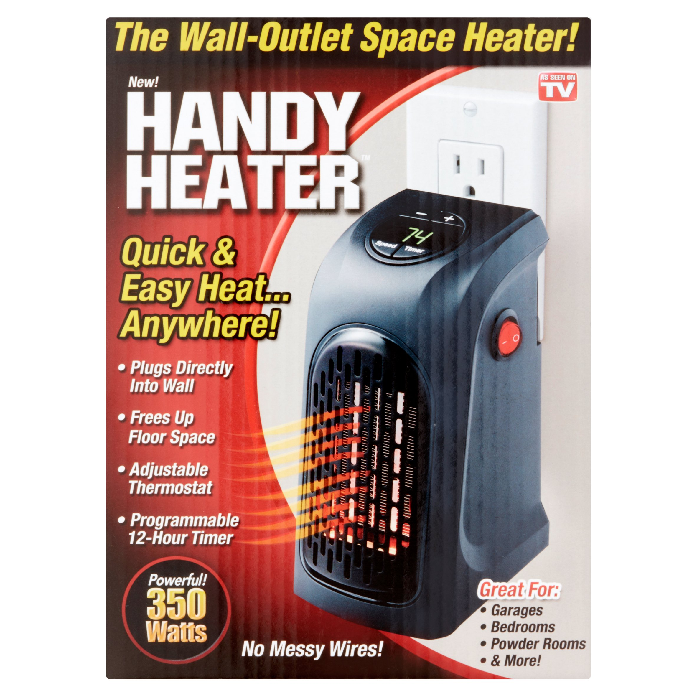 As Seen on TV Handy Space Heater, 350 watts