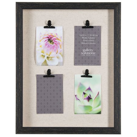 11 x 18 4-Clip Shadowbox Photo Frame, Black - Walmart.com
