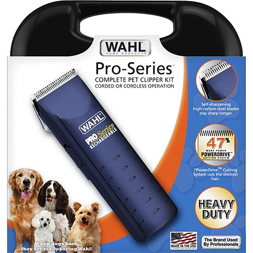 Wahl Pro-Series, Complete Pet Clipper Kit Corded or Cordless Operation