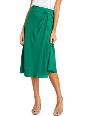 Lush Clothing Womens Knot Midi Skirt
