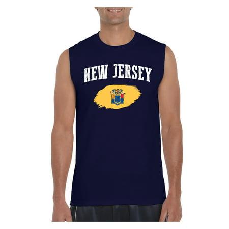 New Jersey State Flag Men Ultra Cotton Sleeveless T-Shirt