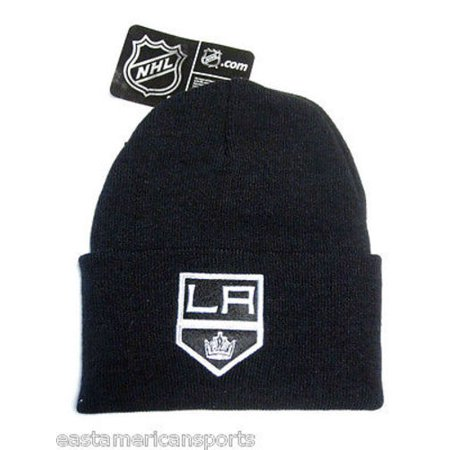 Los Angeles Kings NHL Black Cuffed w/ Logo Knit Hat Cap Ski Snow Winter Beanie