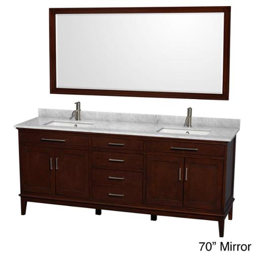 wyndham collection hatton 80-inch dark chestnut double-sink