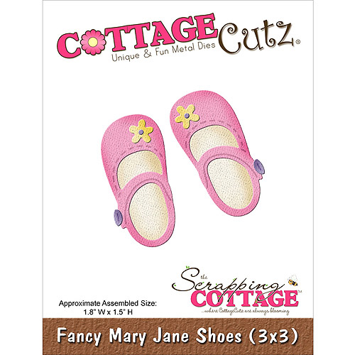CottageCutz Die Cuts, 3 by 3-Inch, Fancy Mary Jane Shoes Multi-Colored