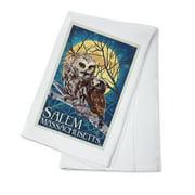 Salem Massachusetts Owl Owlet Letterpress Lantern Press Artwork 100