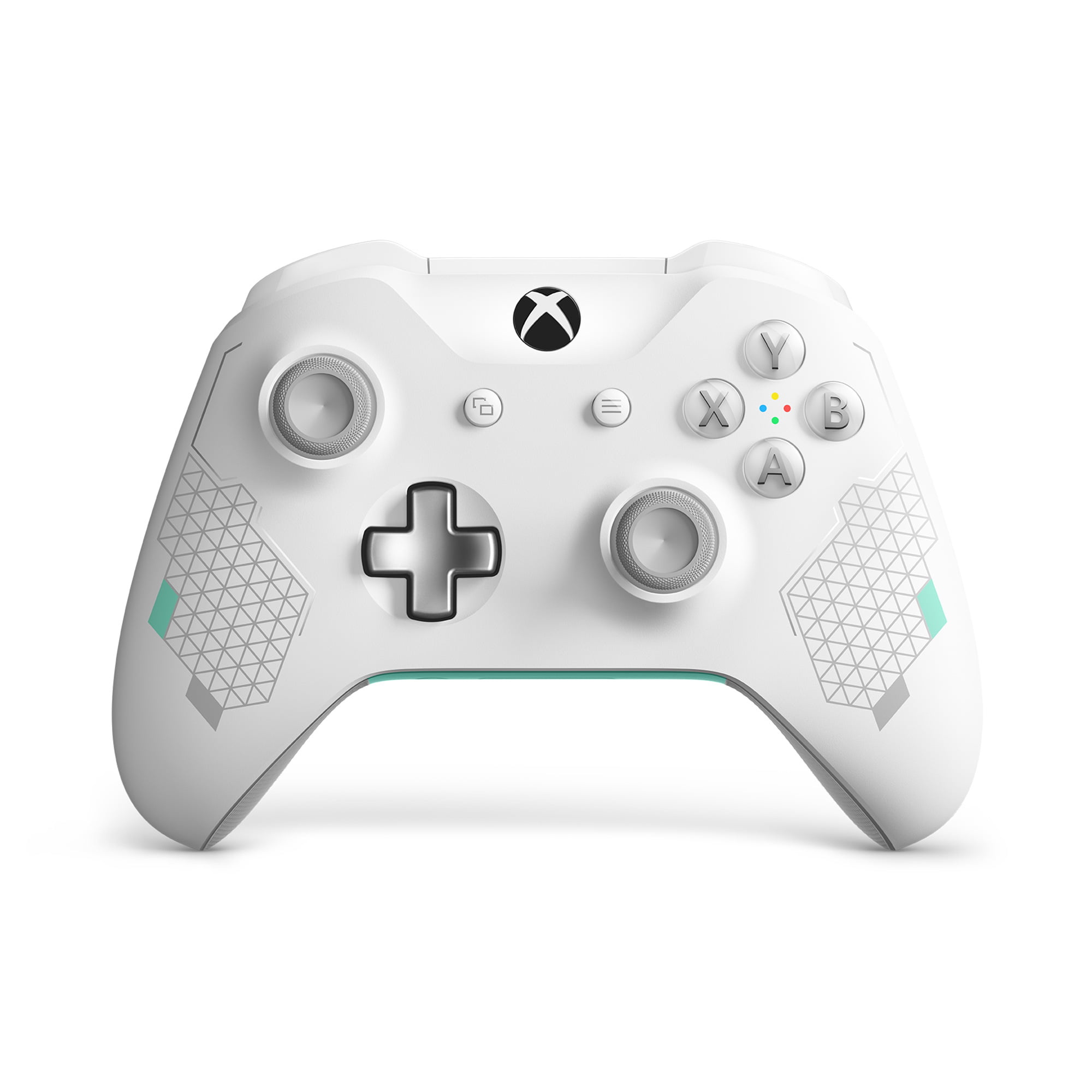 Microsoft Xbox One Wireless Controller, Sport White Special Edition, WL3-00082 by Microsoft