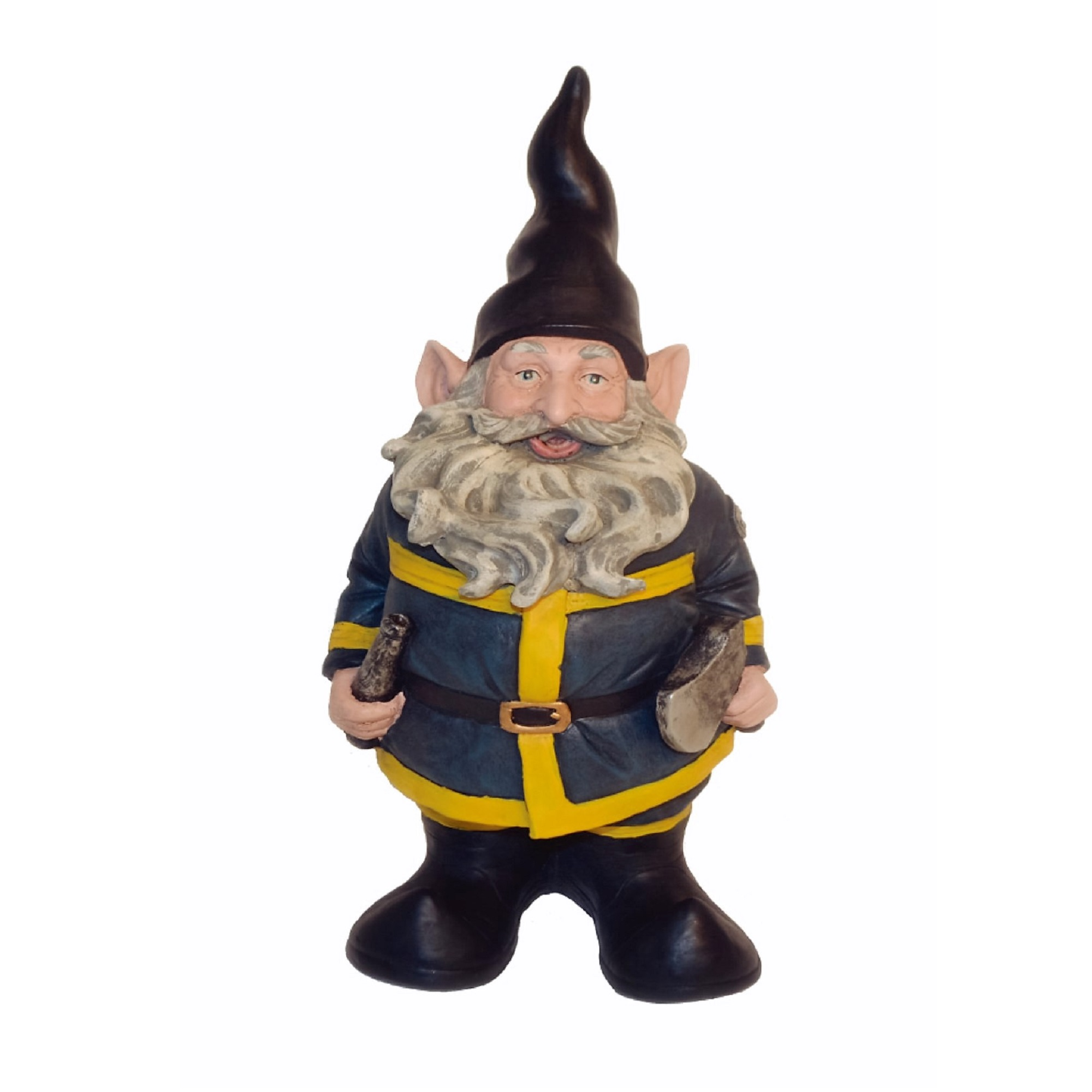 "Nowaday Gnomes ""Fireman the Hero"" Garden Gnome Firefighter Holding a Fire Hose &... by GSI Homestyles"
